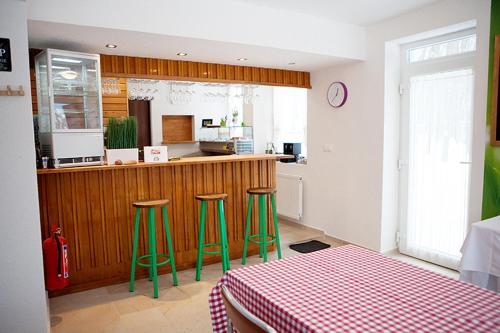Lobby alebo recepcia v ubytovaní Penzión Modrý Dom