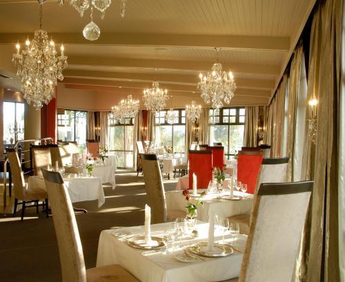 Hotel Heinitzburg tesisinde bir restoran veya yemek mekanı