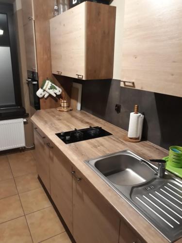 Kuchnia lub aneks kuchenny w obiekcie Pokoje gościnne Winnica Celtica