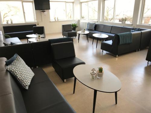 En sittgrupp på Danhostel Copenhagen Bellahøj