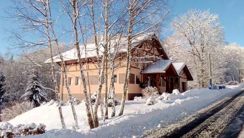 Rezidence Gutwirtovi during the winter