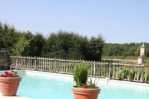 The swimming pool at or near Chateau De Castelneau