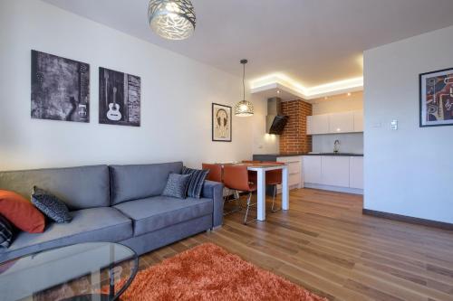 A seating area at Apartamenty Starówka - Melody