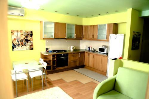 Кухня или мини-кухня в Apartment on Chistopolskaya 60
