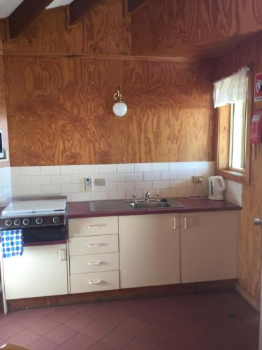 A kitchen or kitchenette at Jenolan Cabins