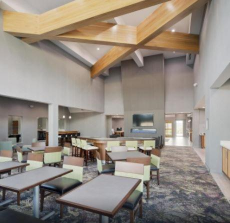 A restaurant or other place to eat at Homewood Suites By Hilton Topeka