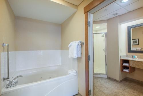 A bathroom at Crowne Plaza Lake Placid, an IHG Hotel