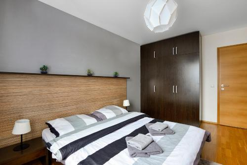 Ein Bett oder Betten in einem Zimmer der Unterkunft Apartment Prague Angel
