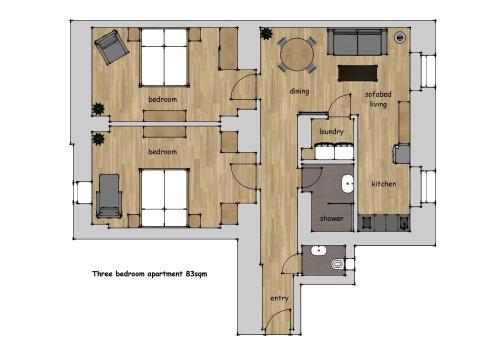 Planimetria di Na Skalce Astra Apartment