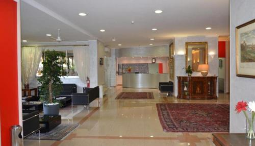 The lobby or reception area at Hotel Marc'Aurelio