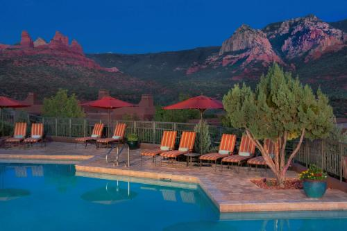 The swimming pool at or near Hyatt Residence Club Sedona, Piñon Pointe