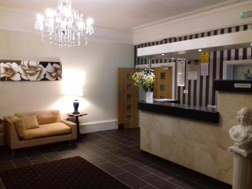The lobby or reception area at The Croham Hotel
