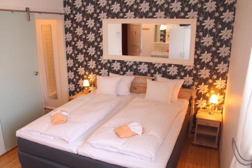 Säng eller sängar i ett rum på Skogshotell