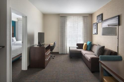 A seating area at Residence Inn by Marriott New York Long Island East End