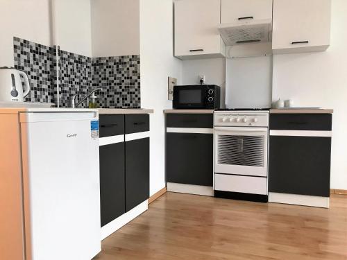 A kitchen or kitchenette at Apartament Szczecin Przecław – Zielone Pole