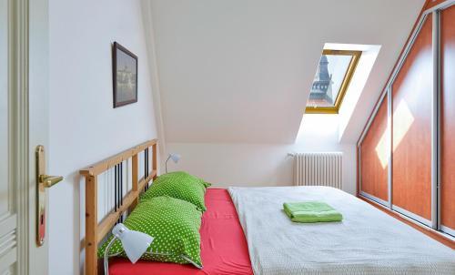 Een bed of bedden in een kamer bij Valentinska