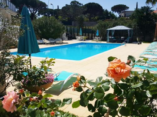 The swimming pool at or near Villa Colombier