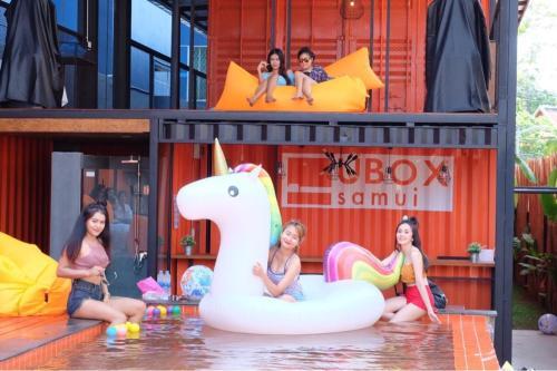 Children staying at UBOX Hostel