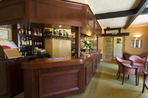 The lounge or bar area at Stower Grange Hotel