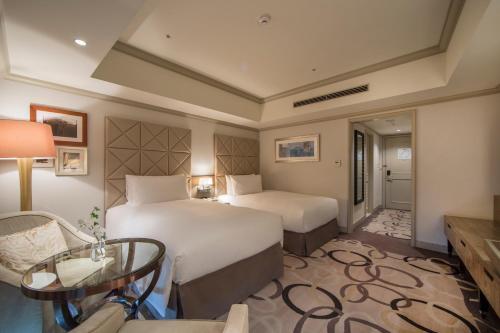 Tempat tidur dalam kamar di Hilton Tokyo Odaiba