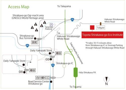 The floor plan of TOYOTA Shirakawa-Go Eco-Institute