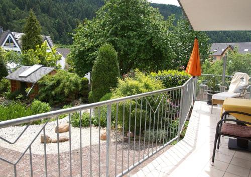 Ein Balkon oder eine Terrasse in der Unterkunft Ferienwohnung-Mosel