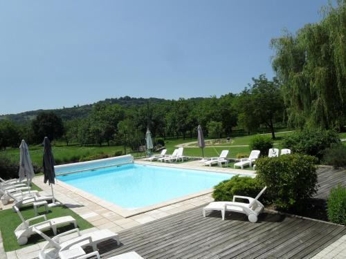 The swimming pool at or near Domaine des Escouanes