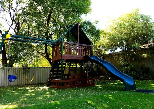 Children's play area at Busselton Jetty Chalets