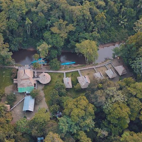 A bird's-eye view of Cuyabeno River Lodge