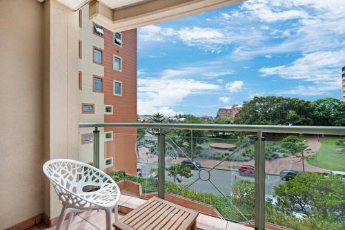 A balcony or terrace at Fabulous beach apartment