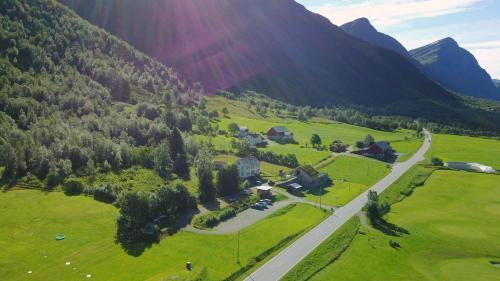 Widok z lotu ptaka na obiekt Overvoll Farm