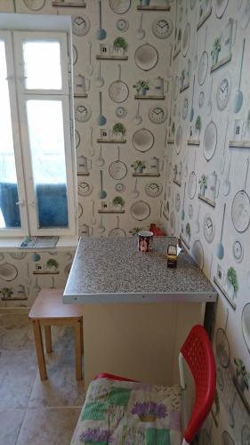 A kitchen or kitchenette at голубое