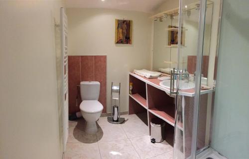 Salle de bains dans l'établissement Gite Du Lac Der Grue