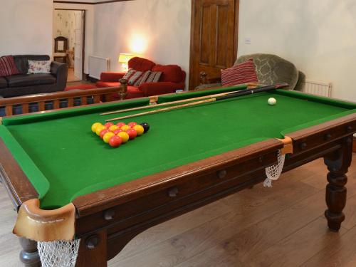 A pool table at Lavender House