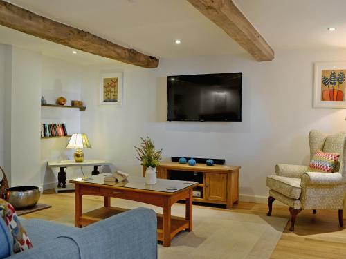 A television and/or entertainment center at Wrockwardine Cottage