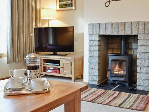 A television and/or entertainment center at Bearberry Cottage