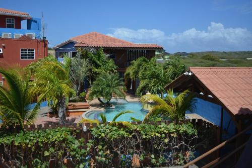 Uma vista da piscina em Nos Krusero Apartments ou nos arredores