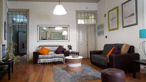 A seating area at Algarve Hostel