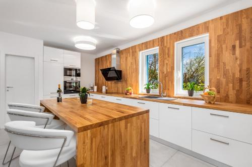 A kitchen or kitchenette at Olea Residence