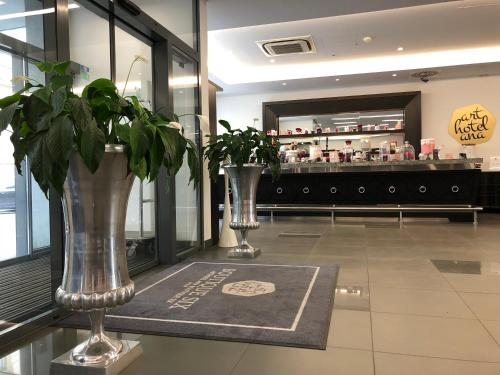 The lobby or reception area at Arthotel ANA Boutique Six