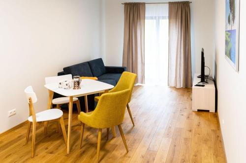 Istumisnurk majutusasutuses OldTown Tartu Apartments