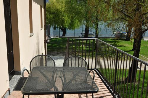 Een balkon of terras bij North Wind Camping & Apartment
