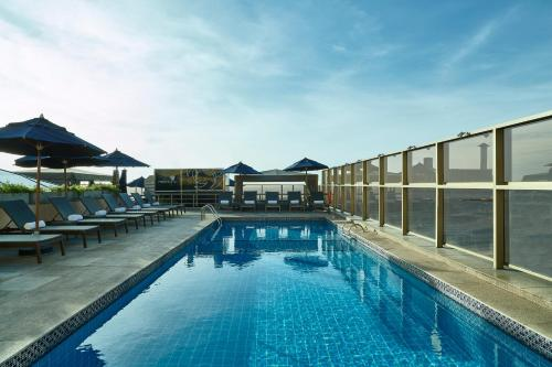 The swimming pool at or near JW Marriott Rio de Janeiro