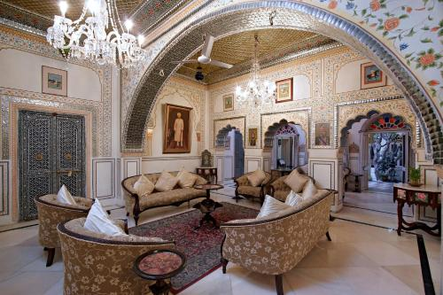 A seating area at Alsisar Haveli - Heritage Hotel