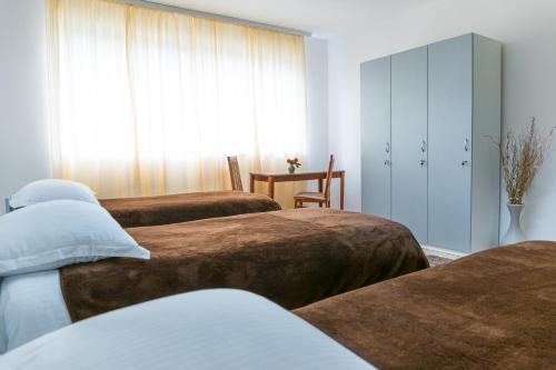 Krevet ili kreveti u jedinici u objektu Hostel Banja Laktaši Terme Laktaši