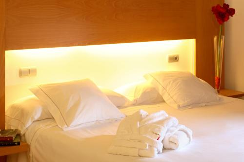 A bed or beds in a room at Tierra de Biescas