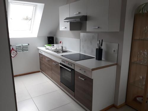 Küche/Küchenzeile in der Unterkunft Ferienwohnung Kaiser