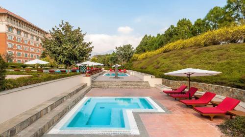 The swimming pool at or close to Hyatt Regency Kathmandu