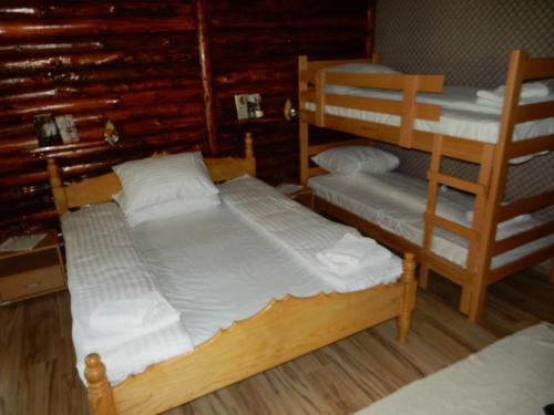 Krevet ili kreveti na sprat u jedinici u okviru objekta Apartments Izvor Lisine