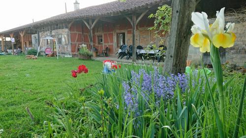 A garden outside A La Poularde B&B